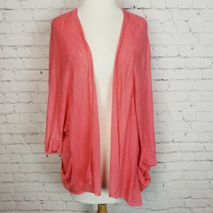 A.n.a. Open Front Cardigan Shrug Pink